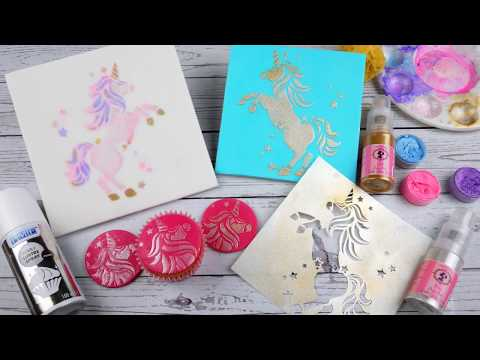 3 Easy Ways To Use A Unicorn Stencil For Cakes and Cupcakes