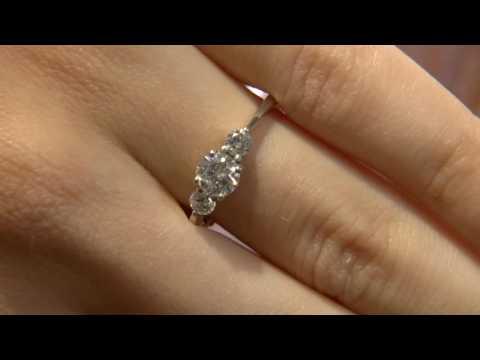 TR1053 Three stone diamond engagement ring Ireland