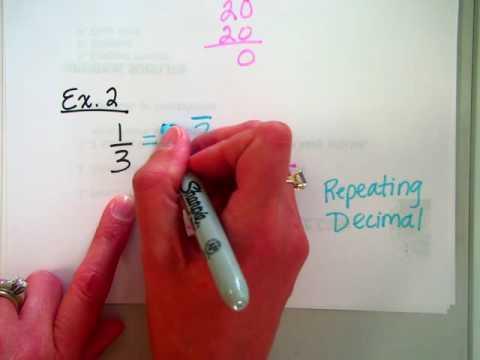 1 2 Convert Fraction to Decimal