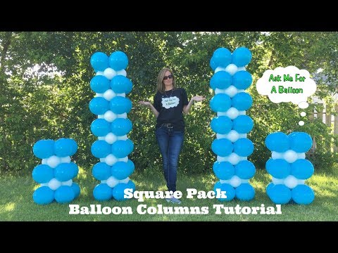 Square Pack Balloon Columns Tutorial