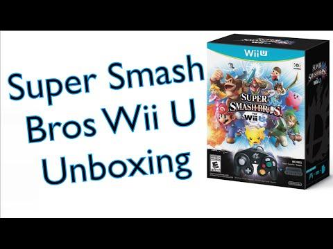 Super Smash Bros Bundle Unboxing (Wii U)