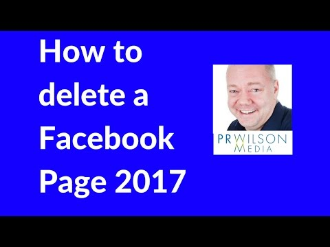 How to delete Facebook Page 2017
