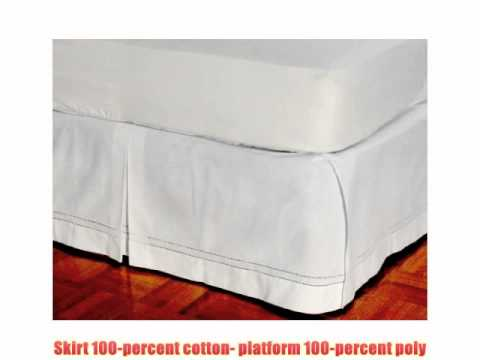 D Kwitman and Son Hemstitch Box Pleat Bed Ruffle 18Inch King White