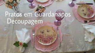 DIY- Pratos Feitos Com Guardanapos!