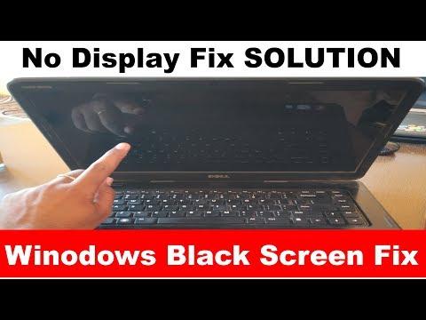Windows Black Screen | No Display laptop Fix