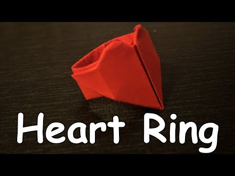 How to Make Paper Heart Ring | Amazing Things Made Out Of Paper #11