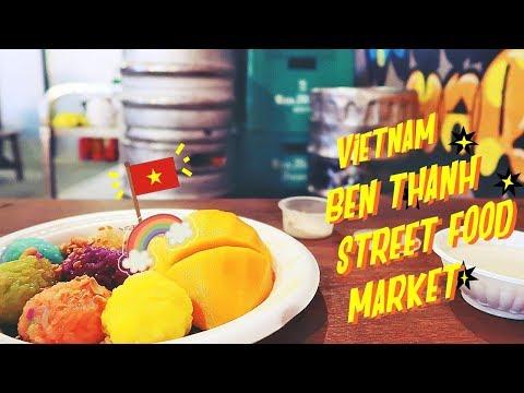 🇻🇳vietnam vlog [ben thanh street food market] RAINBOW🌈RICE 🔆 episode#2 ⚫ TheWickeRmoss