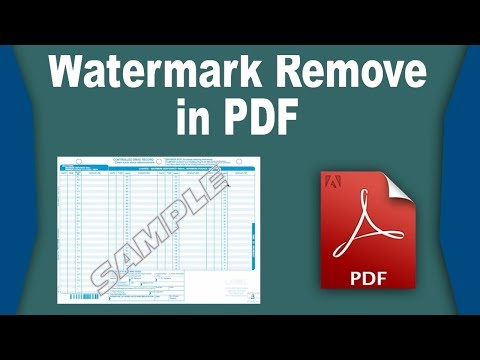 Remove text watermark from PDF using Adobe acrobat pro