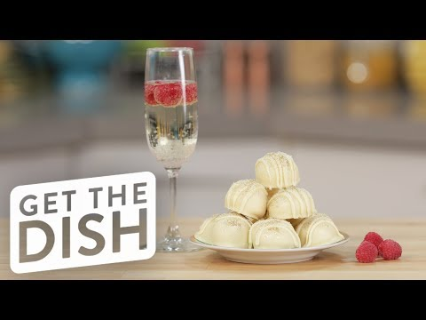 White Chocolate Prosecco Truffles | Get the Dish