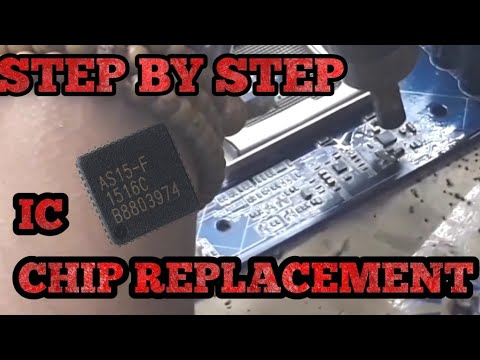 How to Easily Remove and Replace Any IC CHIP Of Laptop Motherboard   step by step  