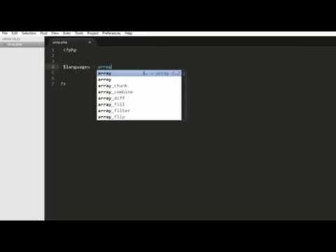 Indexed Array in PHP Beginners Tutorial