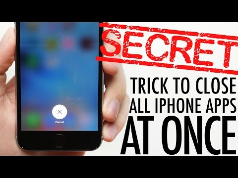 Secret iPhone Trick To Closing All Apps At Once!