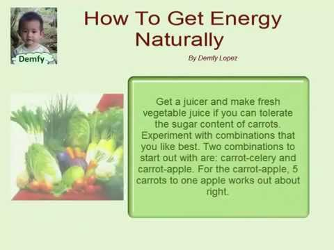 How To Get Energy Naturally