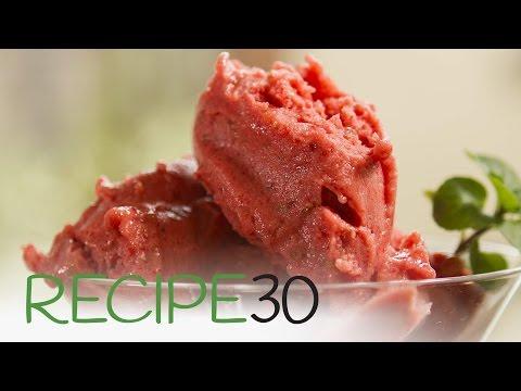 Healthy! NON DAIRY FRUIT ICECREAM - By RECIPE30.com