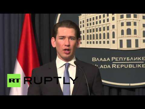 Serbia: Austria will accept no more than 37,500 refugees in 2016 - FM Kurz