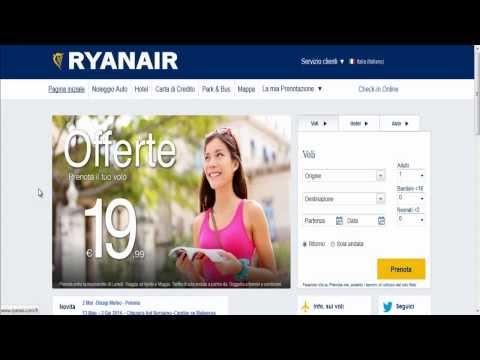 Check-in online con Ryanair - Come fare (aggiornamento 03/2014)