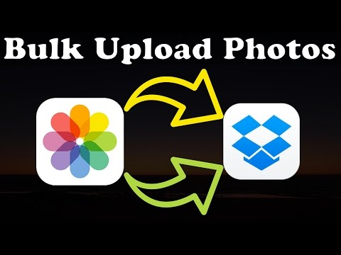 How to Bulk Upload Photos from iOS on an iPad or iPhone to Dropbox