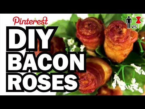 DIY Valentines Bacon Roses - Man Vs. Pin -  Pinterest Test #47