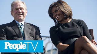 Michelle Obama And George W. Bush's Adorable Friendship Over The Years | PeopleTV