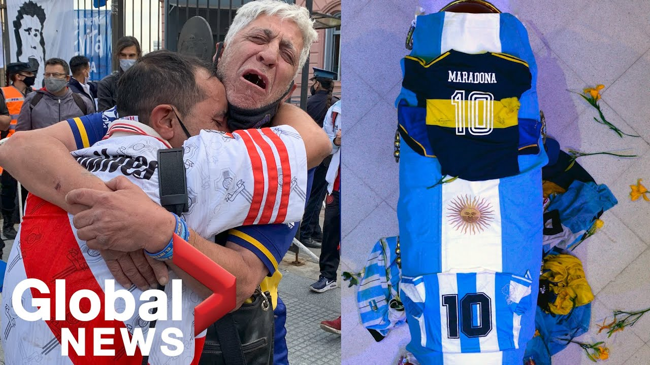 Maradona: Argentinians bid farewell to 'El Diego' at Buenos Aires wake