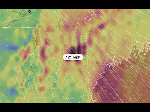 UPDATE: CAT 3 Hurricane Force Wind Gusts Forecast for North Central NH!