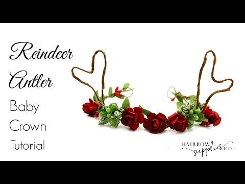 Reindeer Antler DIY Tutorial Christmas Headbands - Hairbow Supplies, Etc.
