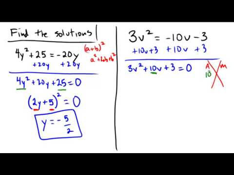 Solving quadratic equations with various techniques