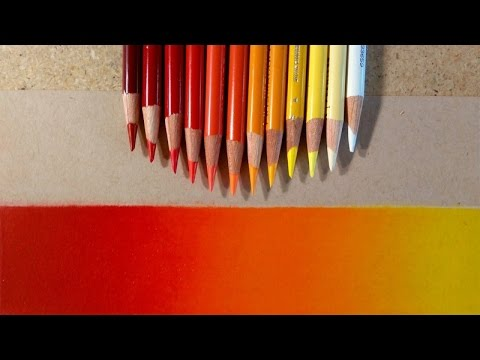 Making A Gradient With Colored Pencils | Warm Colors