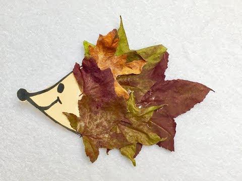 DIY Hedgehog Fall Leaf Craft For Kids
