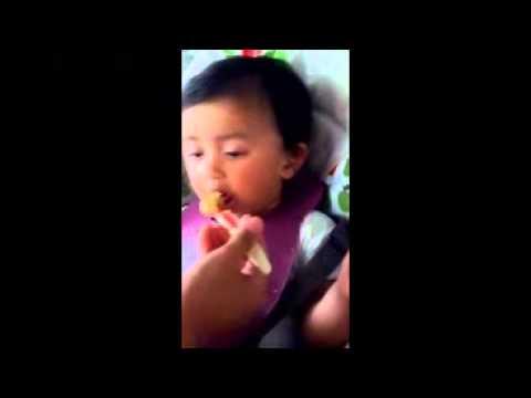 Baby sleeping while feeding