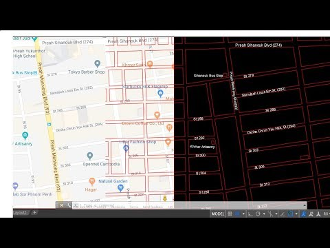 Draw maps in AutoCAD, How to sketch maps in AutoCAD 2D