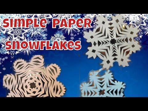 Easy paper snowflakes | simple snowflake tutorial | how to make paper snowflakes? | kids crafting