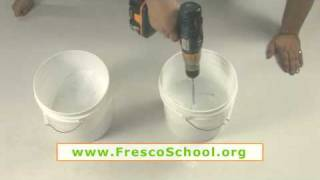 Making Practice Lime Putty for Fresco Painting