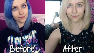 Going From Bluepurple Hair To Blonde