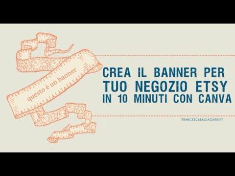 Canva: crea il banner per Etsy in 10 minuti