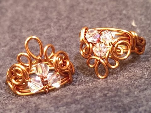 Sparkling crown copper ring - How to make wire jewelry 66