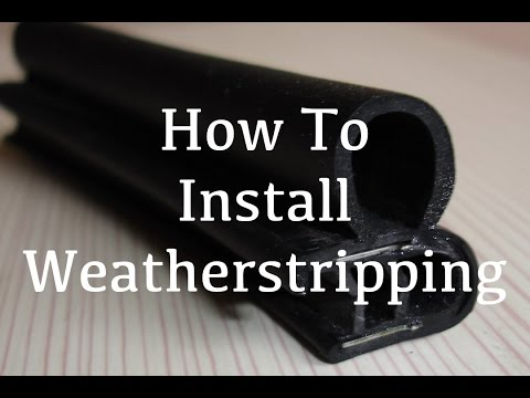 How To - Install Car Door Weather Stripping/Seal 1966 Ford Ranchero