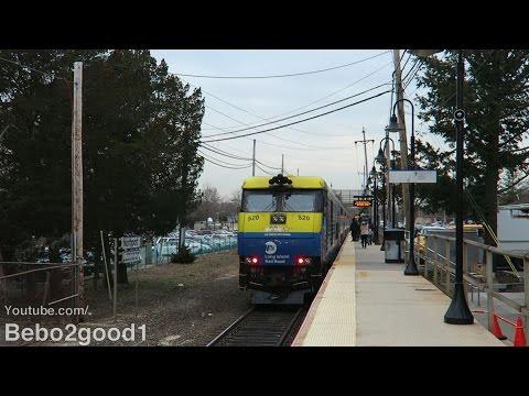 Long Island Railroad Port Jefferson Trains at Northport, NY RR