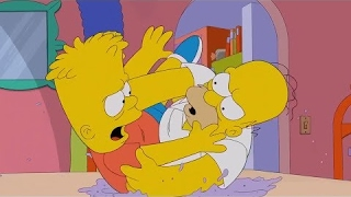 The Simpsons -  Bart and Homer Fight