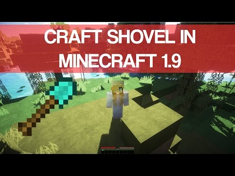 How To Make Shovel In Minecraft 1.9