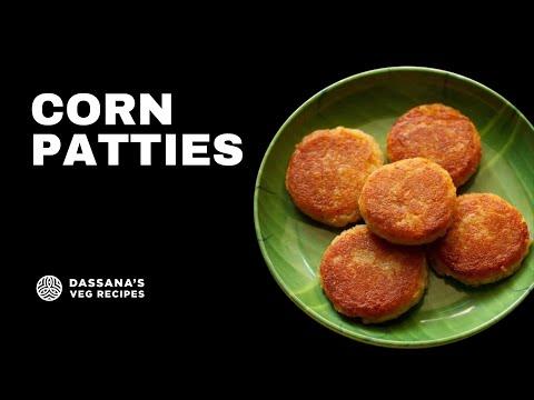 corn patties recipe - stuffed corn potato patties, how to make corn cutlet