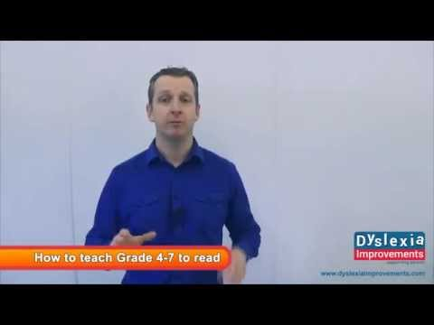 How to teach your dyslexic child to read (grade 4-7)