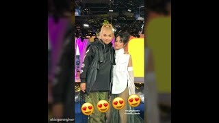 Camila Cabello and Hayley Kiyoko on TRL - Instagram Stories (January 11th 2018)