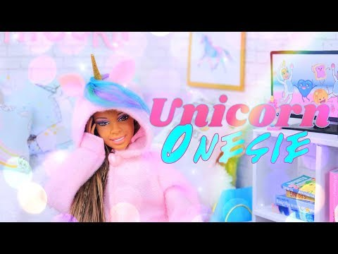 DIY - How to Make: Doll UNICORN Onesie | Recycled Craft | Christmas Gift Idea