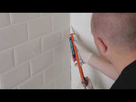 How to tile a kitchen or bathroom walls in a brick pattern