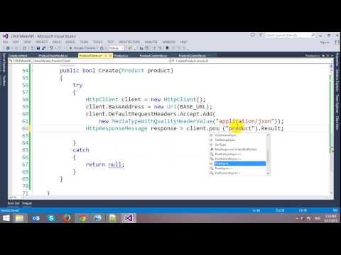 CRUD ASP.NET Web API with Entity Framework in ASP.NET MVC