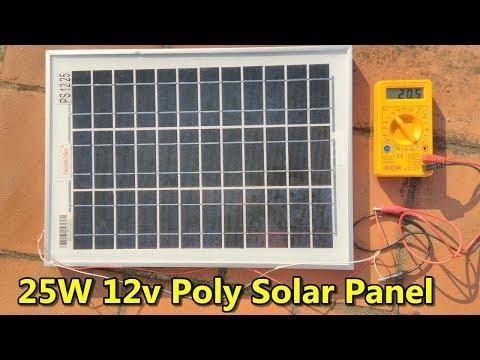 25w 12v Polycrystalline Solar Panel - Preview