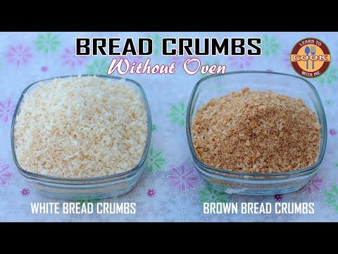 How to make BREAD CRUMBS without Oven | White Bread Crumbs & Brown Bread Crumbs Recipe | Homemade