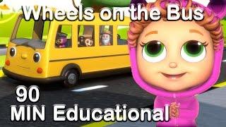 Wheels on the Bus | Educational Nursery Rhyme Compilation
