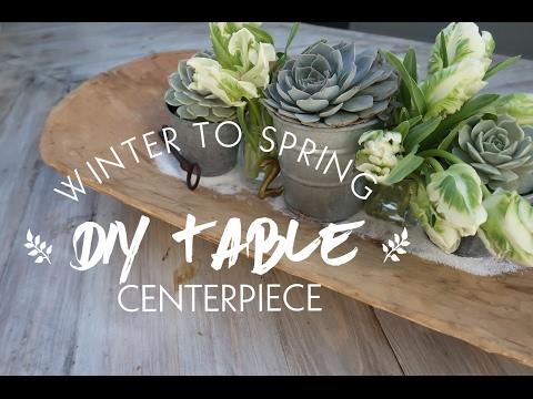 WINTER TO SPRING DIY TABLE CENTERPIECE